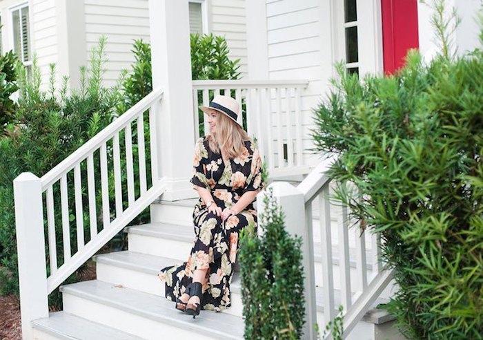 Robe de plage femme longue robe fleurie en ville robe de plage stylée style bohème robe droite fluide tres legere
