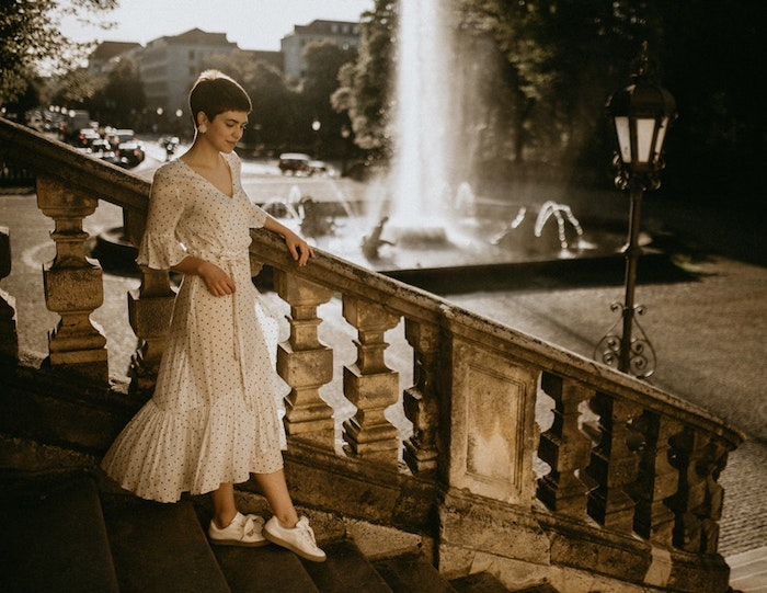 Robe longue blanche boheme chic robe fluide longue boheme chic cool idée robe simple robe longue manche longue