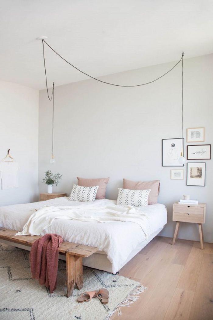Couleur ideale pour chambre adulte couleurs a choisir pour la deco moderne de chambre blanche scandinave