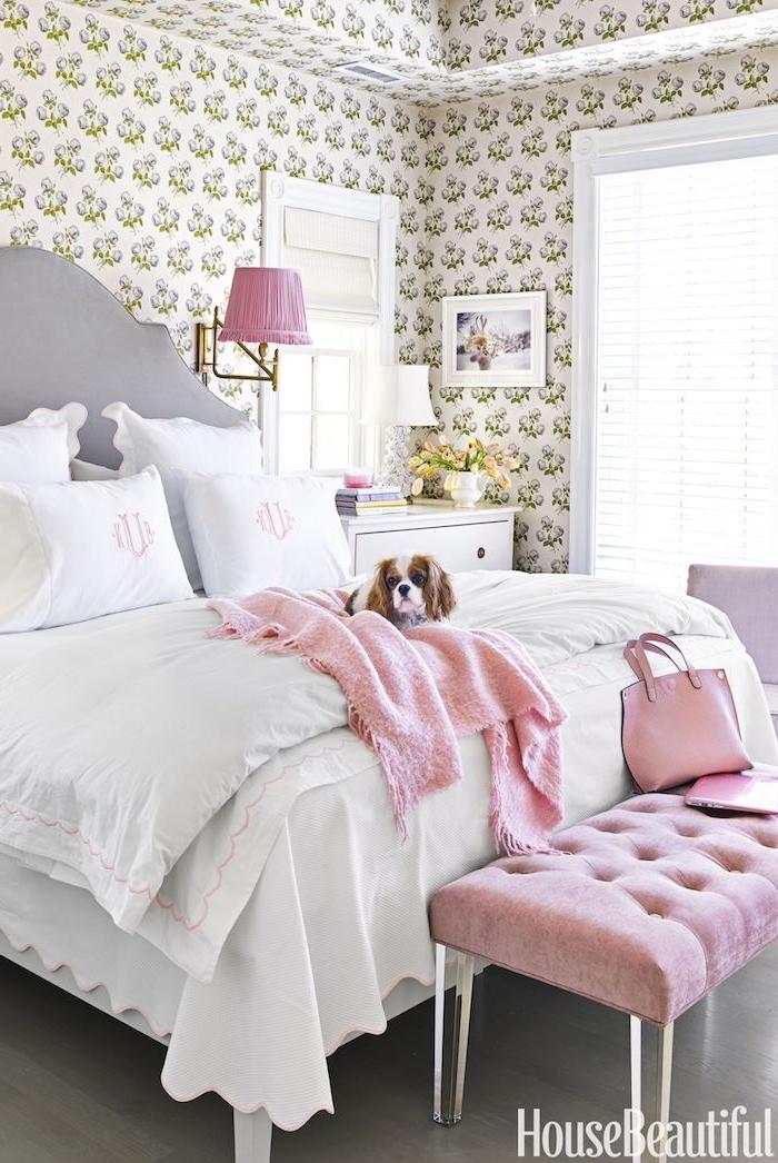 Chambre à coucher adulte couleur idéale aménagement chambre assortir les couleurs pastel cool chambre féminine