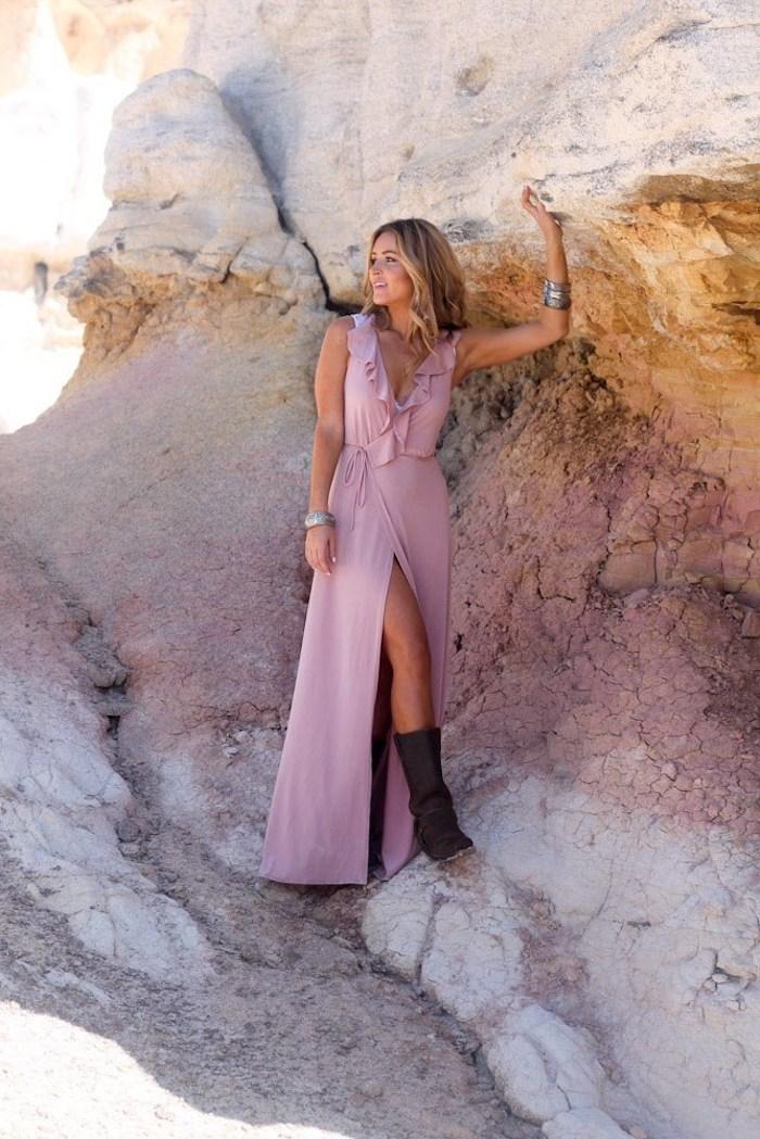 Adorable robe longue ete femme tendances actuelles magnifique idee stylée robe été longue robe fendue