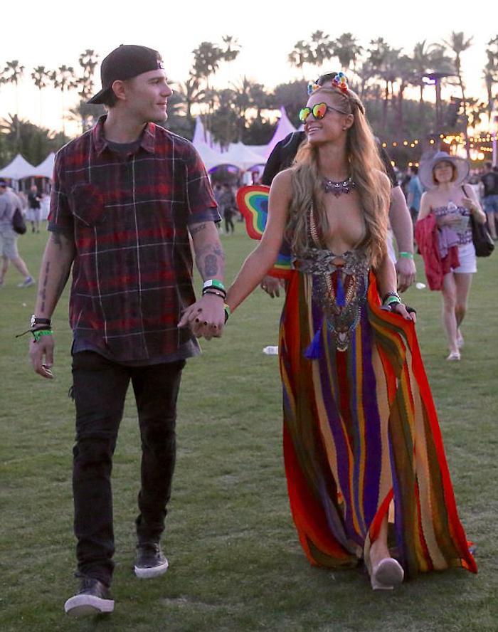 Robe longue fendue robe longue hippie chic robe de plage longue décontracté chic