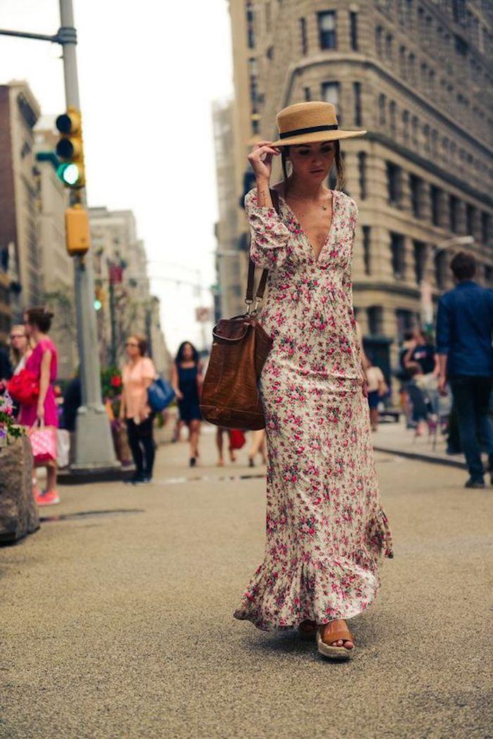 Belle robe longue été pas cher robe longue boheme les robes longues hippie chic robe longue sandales compansées new york