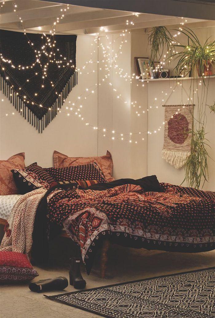 Idée couleur chambre bleu canard couleur idéale pour chambre adulte bohème chambre à coucher cosy