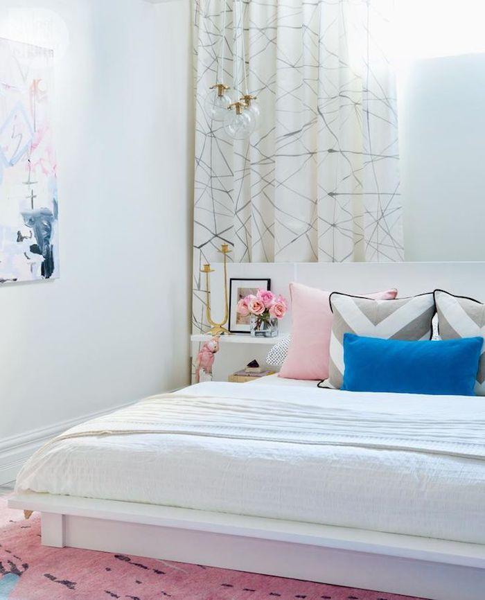 Chambre a coucher blanc rose et bleu deco gris et rose quelle couleur associer au rose poudre intéressante