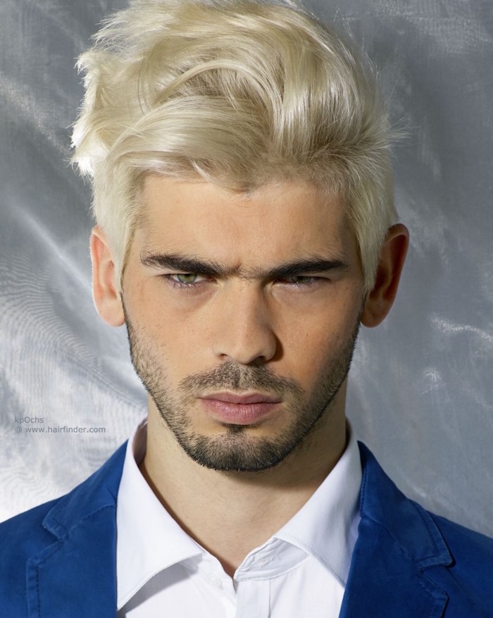 teinture blonde platine homme blond cendr clair blond platine cheveux longs onduls tendances. Black Bedroom Furniture Sets. Home Design Ideas