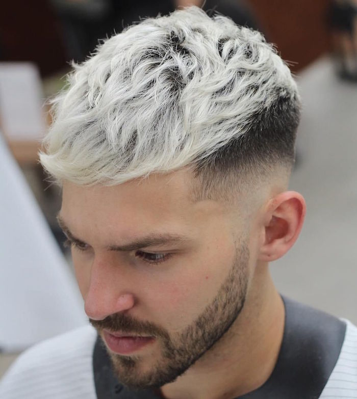 Coupe cheveux homme degrade blanc