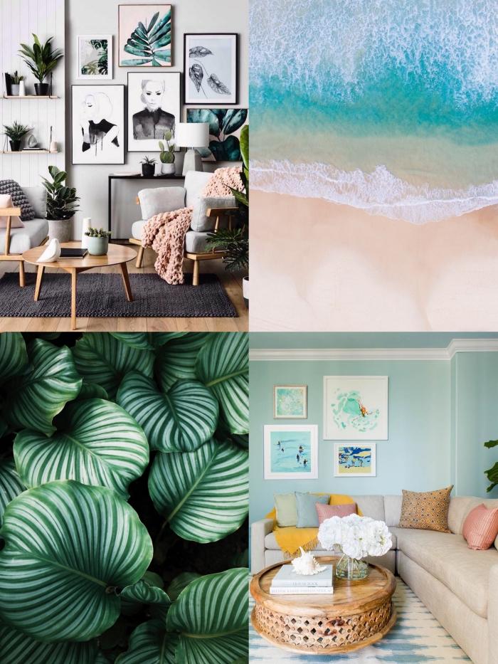 comment décorer son appartement en été pour y apporter de la fraîcheur et de la bonne humeur, le relooking du salon grâce à de touches de couleurs acidulées ou à des touches de verdure