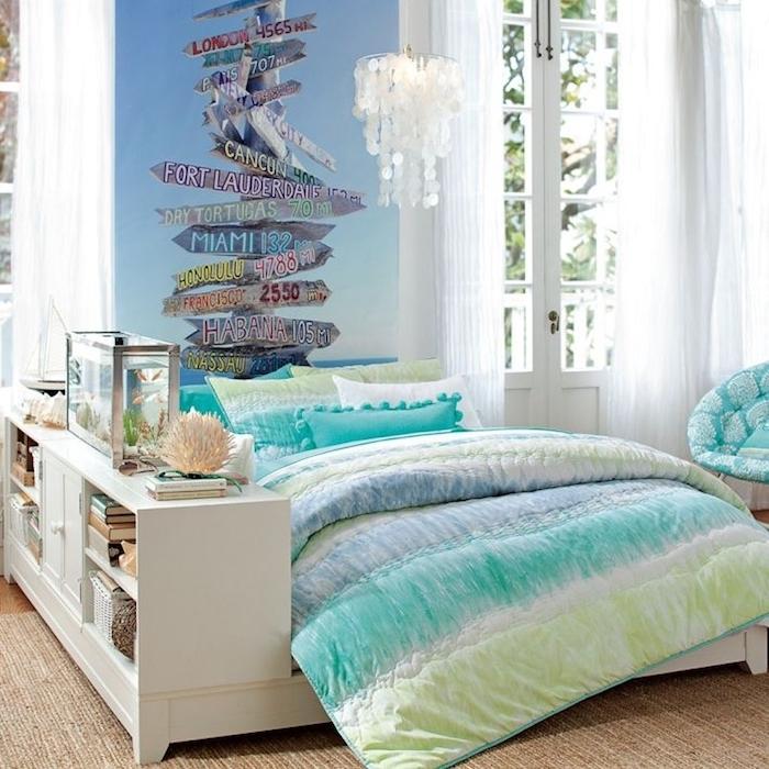 Tapisserie chambre adulte couleur peinture chambre maison moderne scandinave plage chambre