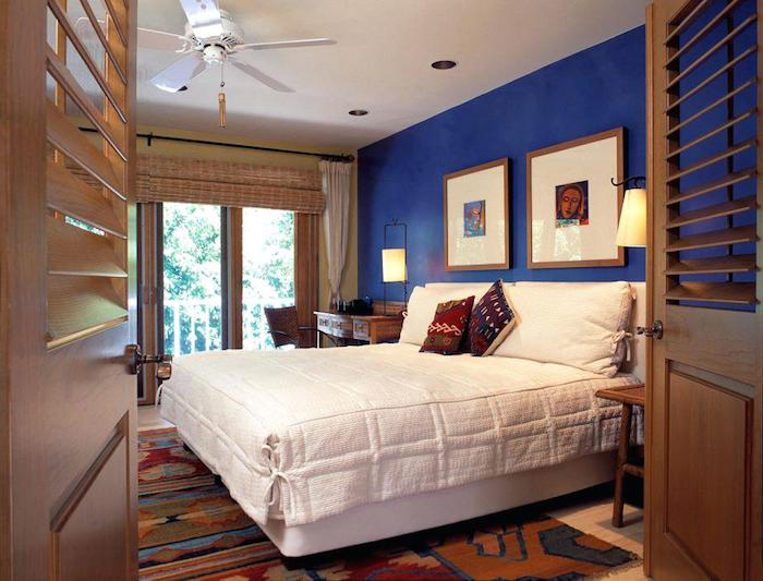 Chambre bleu canard couleur idéale pour chambre adulte association couleurs