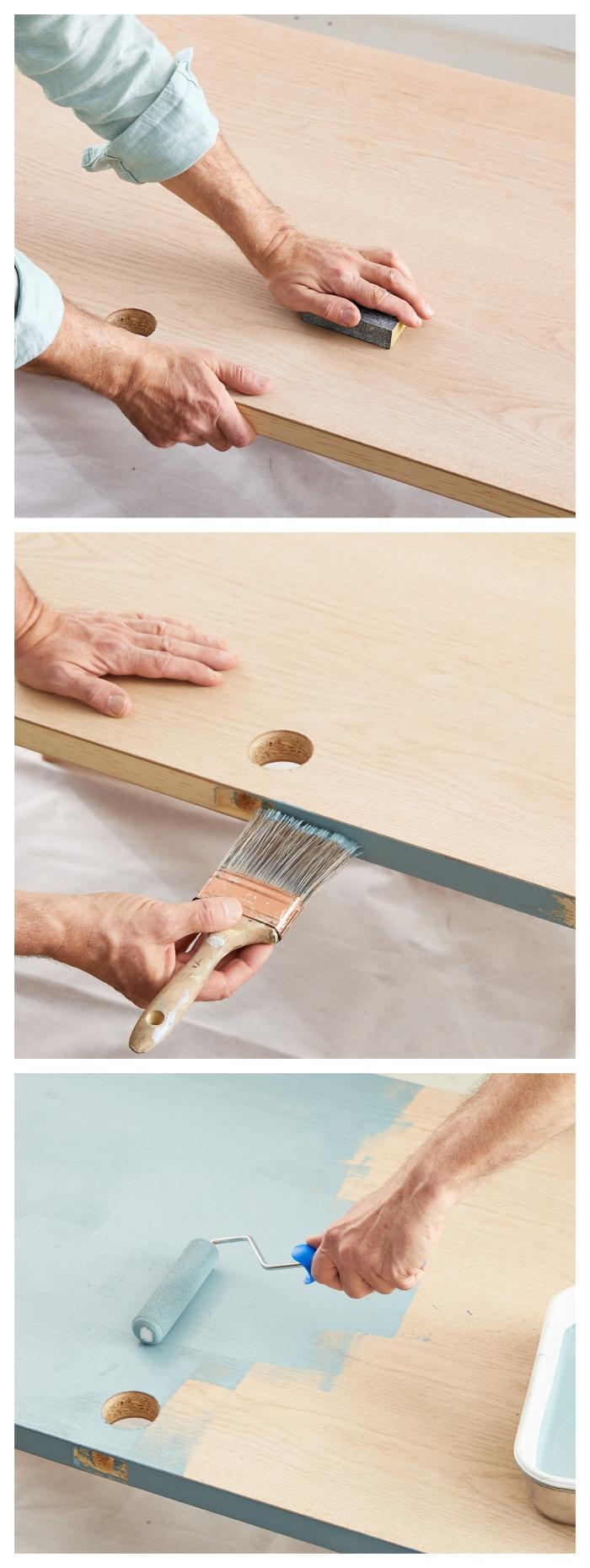 les astuces pratiques pour peindre une porte en bois plate en trois étapes faciles, tuto ponçage et pose de la peinture