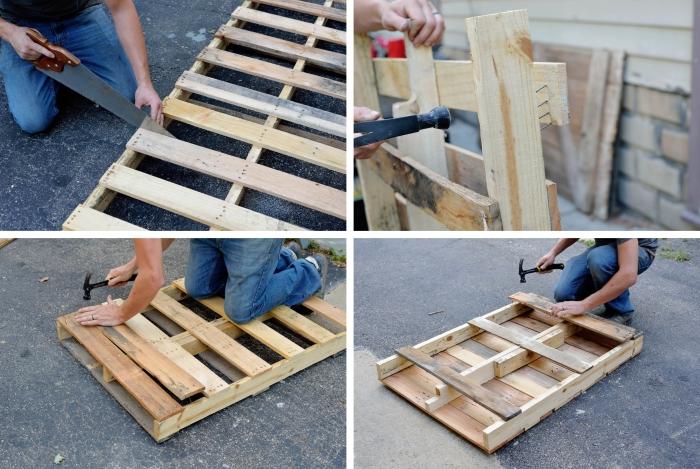 comment fabriquer une table palette étape par étape, comment démonter une palette pour en réaliser une table