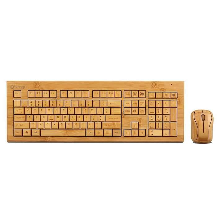 La meilleure idée de cadeau pour homme idée cadeau homme quoi offrir à un homme key board de bambou