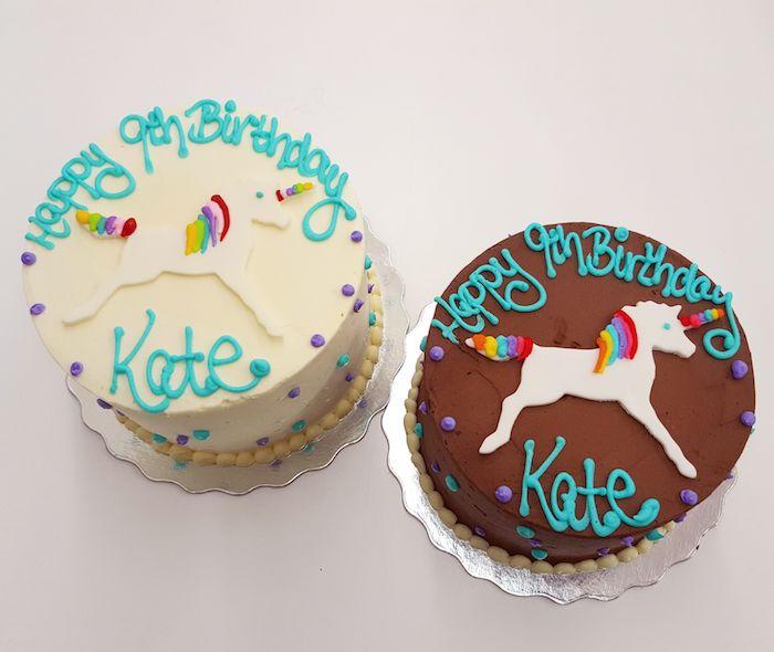 Gateau anniversaire 1 an dessert facile et rapide design pour enfant heureux licorne gâteau pour chaque gout chocolat et vanille