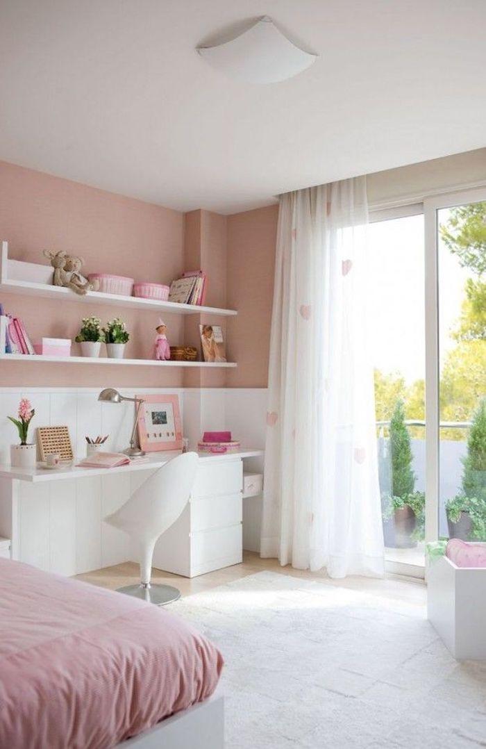 Deco chambre petite fille chambre rose poudré déco chambre rose gold chambre ado fille