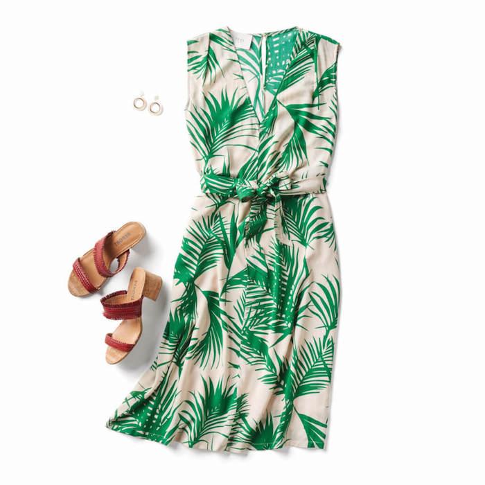 Robe courte a fleur été style palmes robe légère été 2018 mode d'été collection prêt à porter