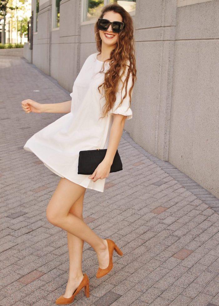 La robe courte blanche ete femme robe légère été cool tenue à choisir pour l été chaud