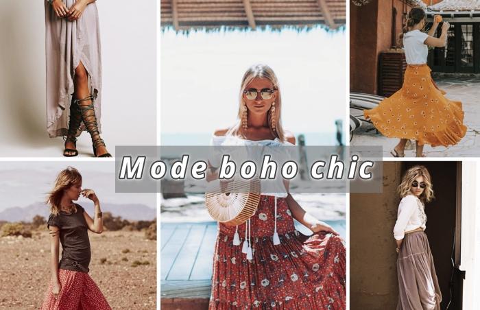 ▷ 1001 + modèles de tenue parfaite en jupe longue bohème