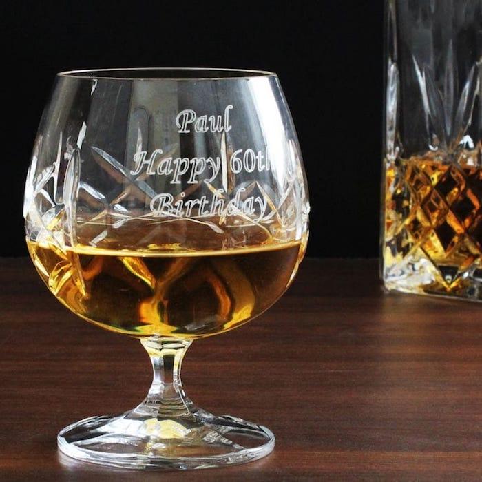 Idée cadeau homme 50 ans cadeau personnalisé homme magnifique idée verre à whiskey personnalisé
