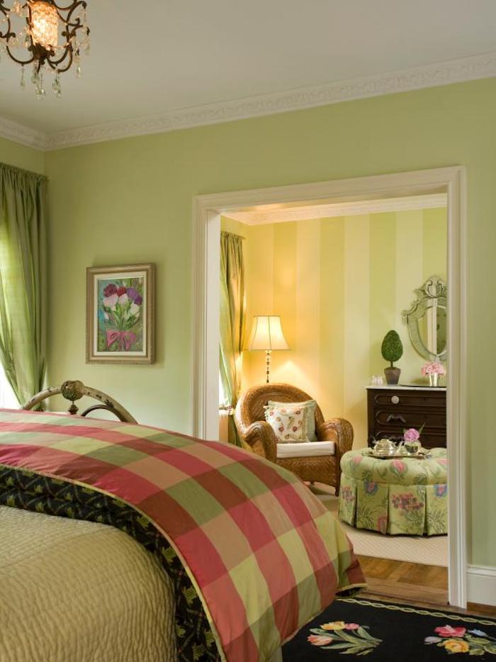 Tendance maison couleur idéale pour chambre adulte décoration moderne maison vert champetre déco