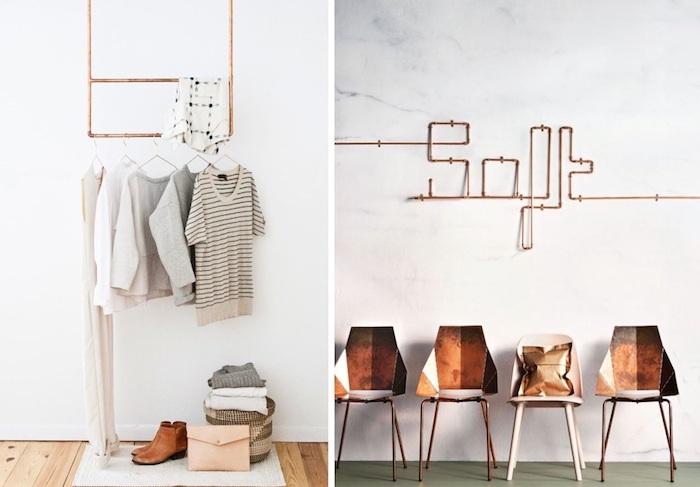 Entree moderne rose doré détails deco gris et rose la plus belle chambre du monde couleur mauve clair