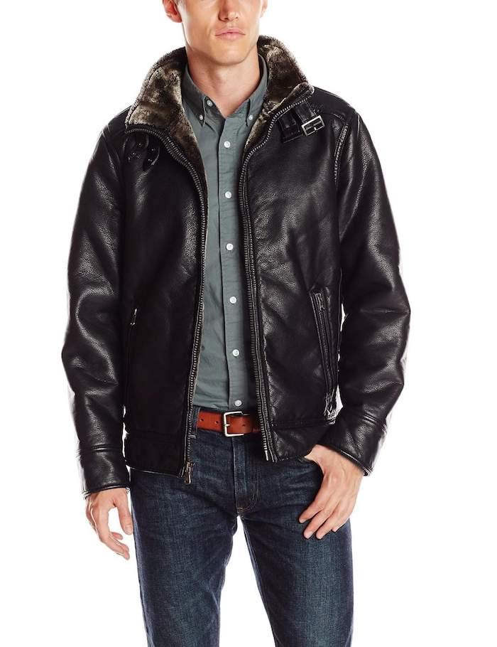 Idée cadeau homme 40 ans cadeau personnalisé homme le meilleur cadeau cuire veste aviateur