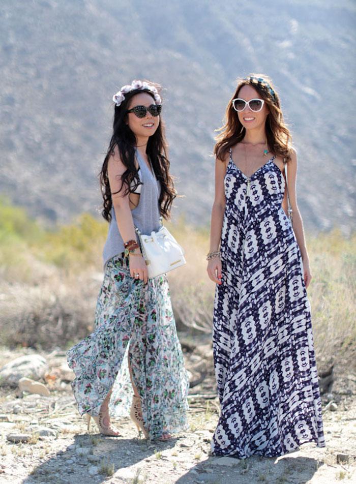 la robe longue hippie chic milles id es comment l. Black Bedroom Furniture Sets. Home Design Ideas