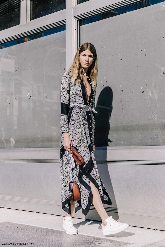Vetement hippie chic robe boheme longue porter une robe pour l ete stylé et confort