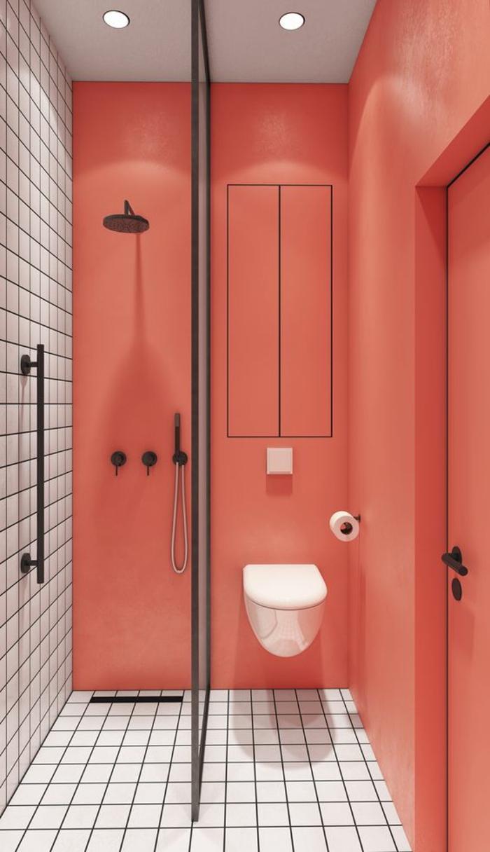 1001 id es pour une salle de bain avec verri re cloisons douches for Salle de bain douche noire