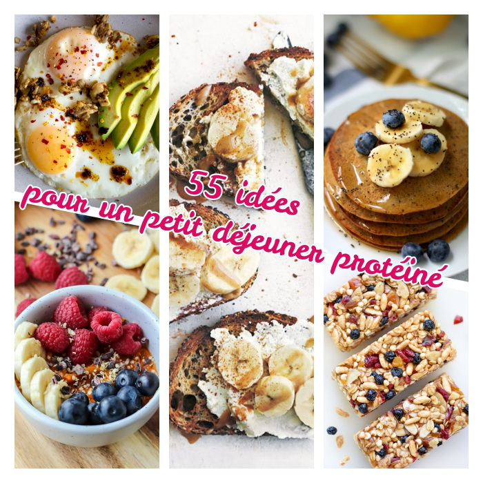 exemple de petit déjeuner protéiné, 55 recette avec et sans oeufs et aliments riches en protéines