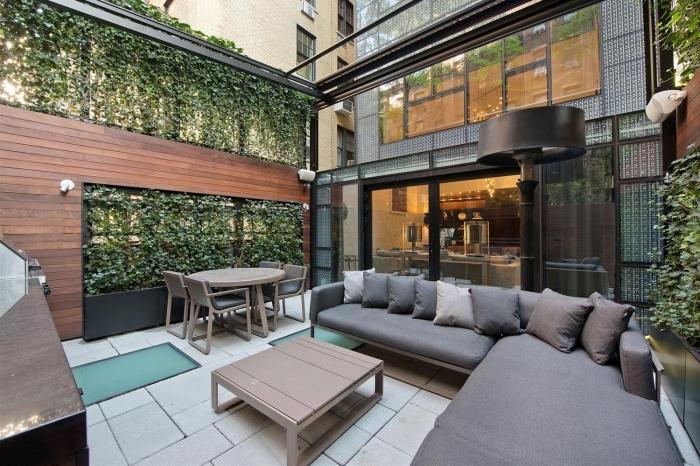 des murs végétaux façon cloture vegetale pour préserver l'intimité dans son jardin