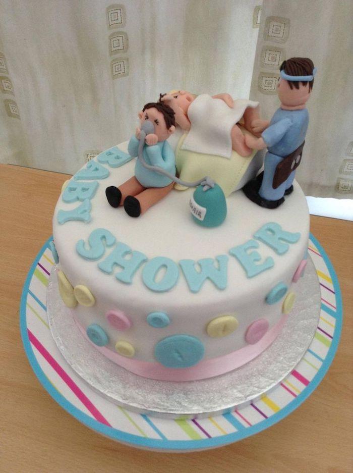 Cake design original en pate a sucre la situation de la naissance dans l hopital amusement gateau original