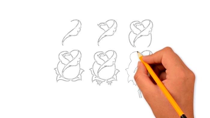 1001 mod les et conseils pour apprendre comment dessiner une rose - Belle fleur a dessiner ...