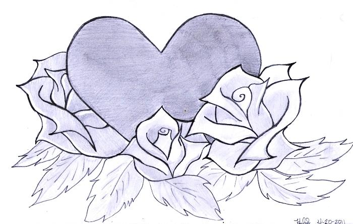 astuces et id es pour apprendre comment dessiner une rose dld. Black Bedroom Furniture Sets. Home Design Ideas