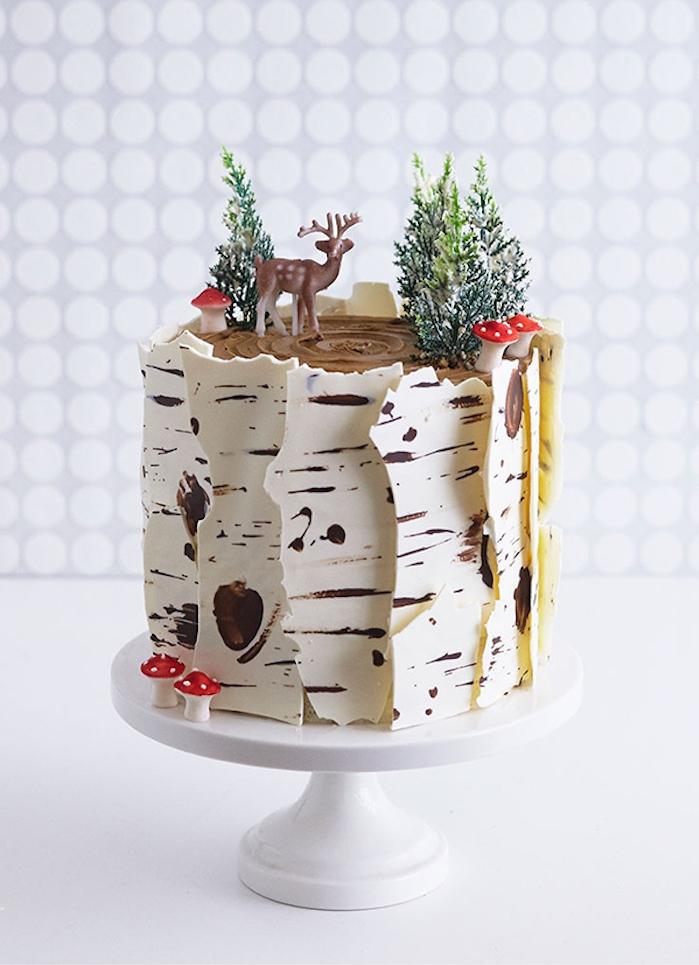Gateau baby shower garcon gâteau baby shower image gateau idée design magique foret chocolat blanc et noir