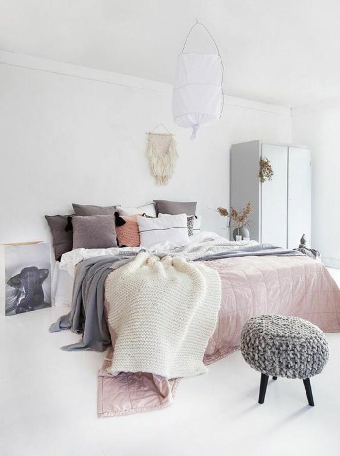Chambre rose poudré – comment l\'aménager? 107 suggestions ...