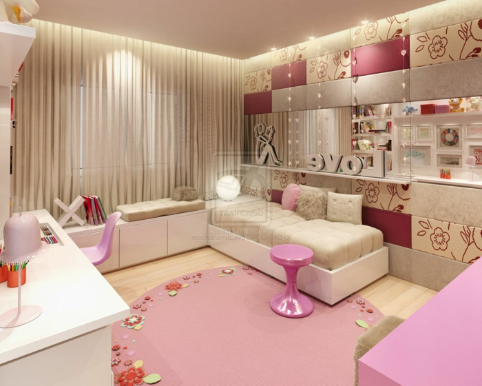 chambre rose poudr comment l am nager 107 suggestions obsigen. Black Bedroom Furniture Sets. Home Design Ideas
