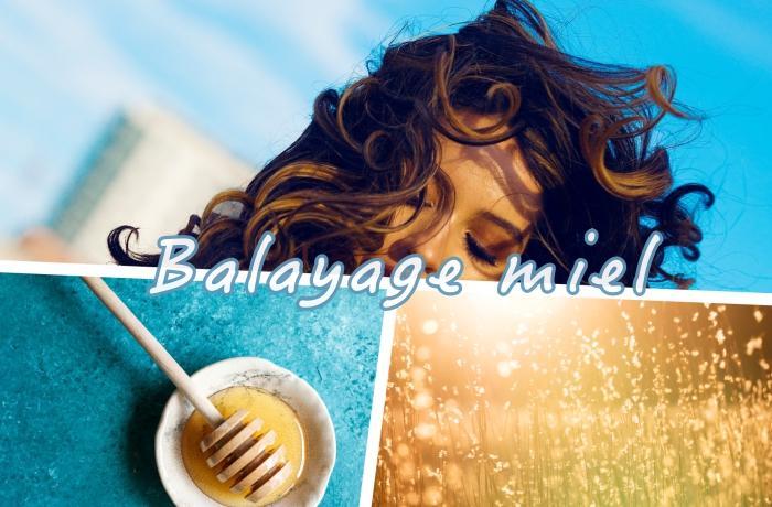 balayage naturel tendance avec meche miel, coiffure de cheveux longs et boucles de couleur marron aux reflets miel