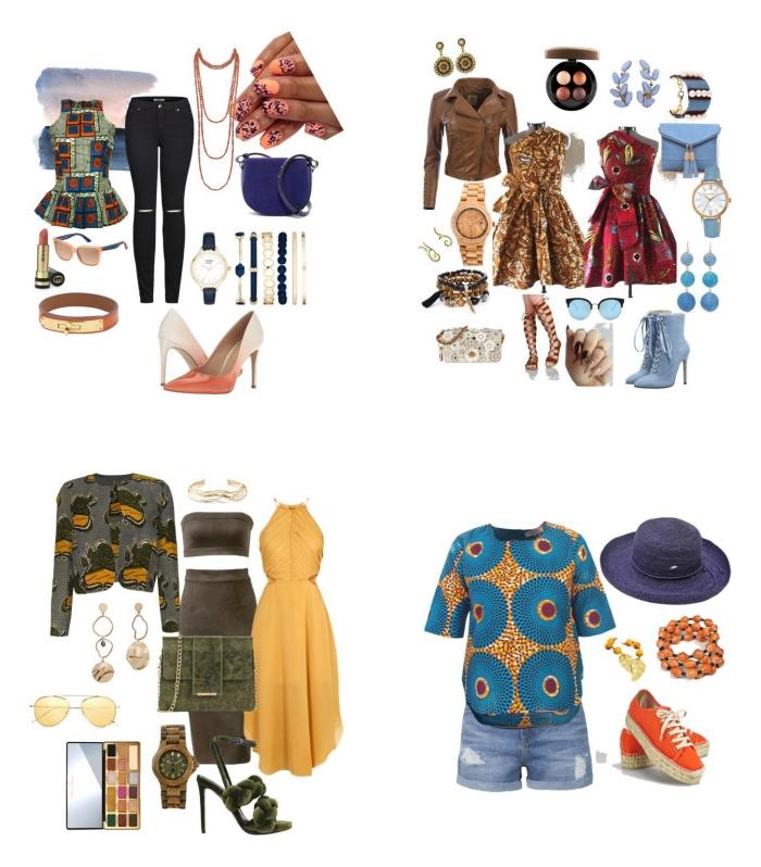 idées de looks etniques chic avec un vetement wax femme, comment porter le wax pour un style décontarcté ou chic