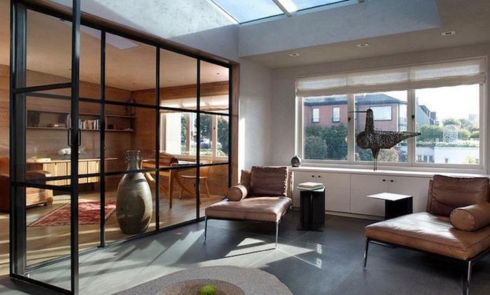osez la verri re industrielle de cuisine une cloison au design transparent qui allie style et. Black Bedroom Furniture Sets. Home Design Ideas