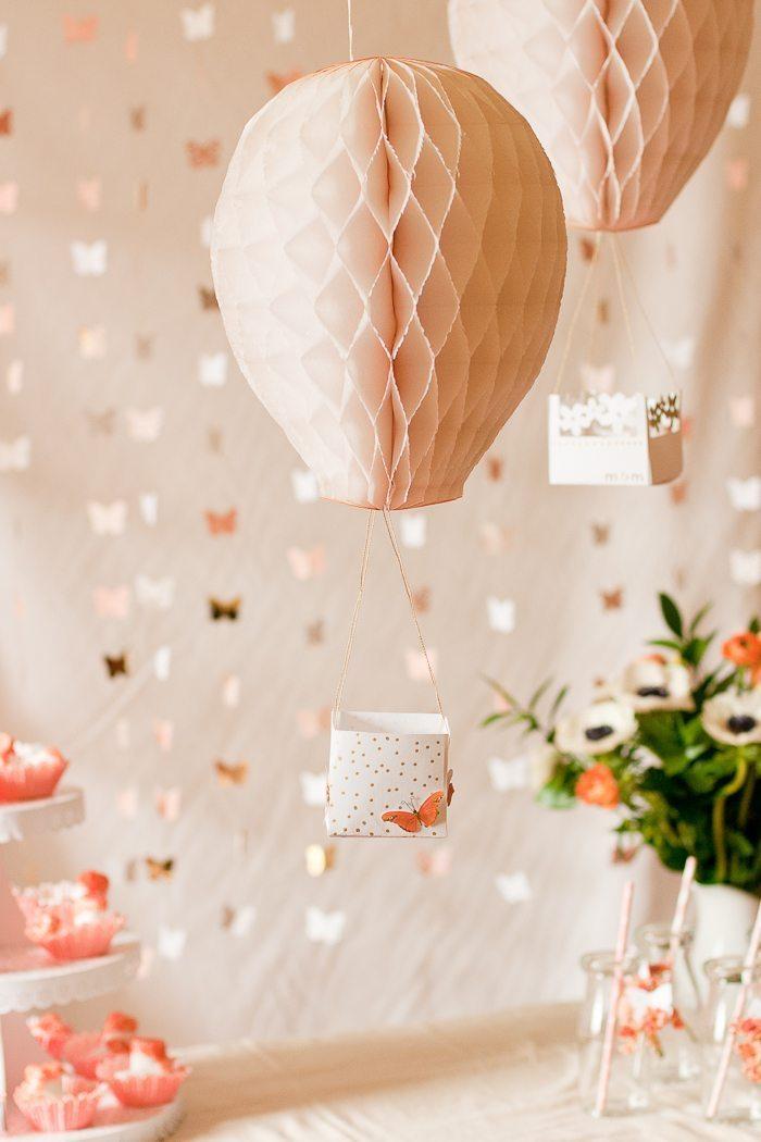 Quelle decoration anniversaire 18 ans idée bricolage maison idee pour les filles ballon rose mignonne décoration papillons guirlande