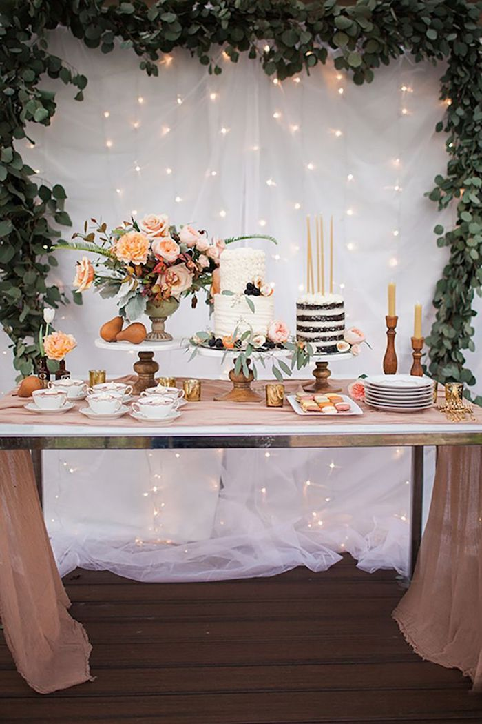 Decoration anniversaire fille idée bricolage maison belle photo exemple de décoration de table anniversaire guirlande lumineuse
