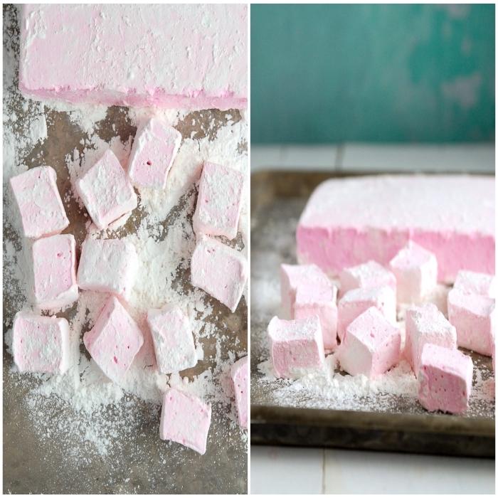 recette guimauve parfumée à l'eau de rose qui fond dans la bouche, recette de confiserie traditionnelle faite-maison