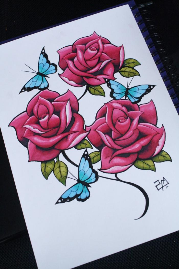 1001 mod les et conseils pour apprendre comment dessiner une rose - Comment couper une rose sur un rosier ...
