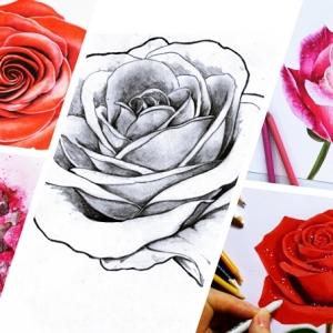 Astuces et idées pour apprendre comment dessiner une rose
