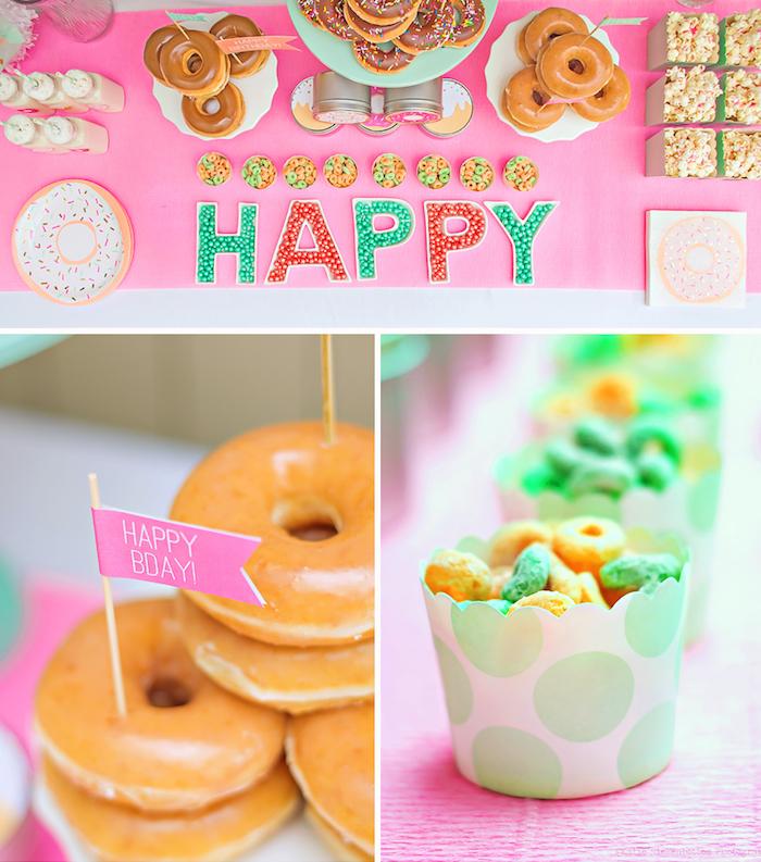Decoration anniversaire adulte deco 30 ans deco a faire soi meme déco simple originales idées déco donut anniversaire