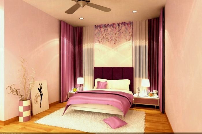 1001 id es pour une chambre rose poudr les int rieurs 2018. Black Bedroom Furniture Sets. Home Design Ideas