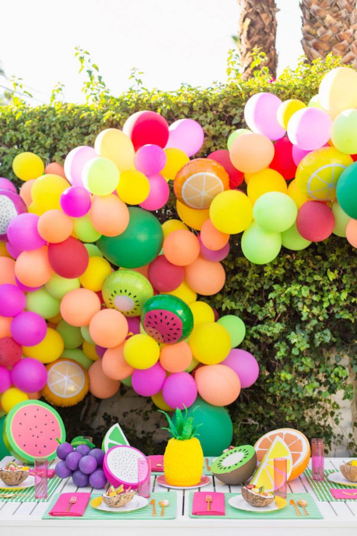 Déco anniversaire à faire soi même idée bricolage maison cool idee diy tutoriel pas à pas ballons colorés