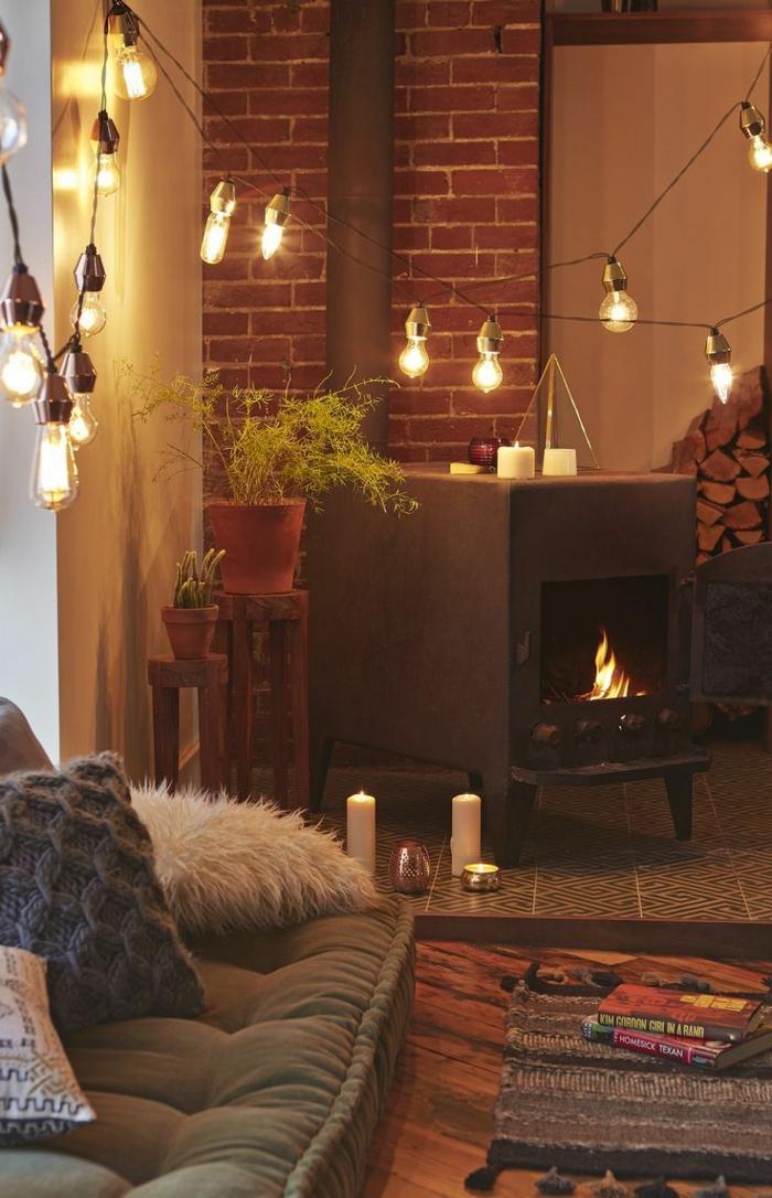 1001 id es pour une guirlande lumineuse pour chambre. Black Bedroom Furniture Sets. Home Design Ideas