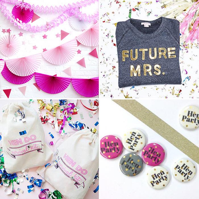 Week end enterrement de vie de jeune fille idée evjf animation evjf cool idee petits accessoires pour la bride tribe